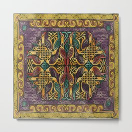 Celtic knot embroidery Metal Print