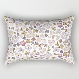 Scattered Hydrangea Rectangular Pillow