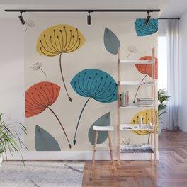 Dandelions in the wind Wall Mural
