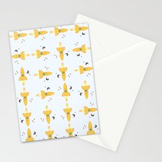 Spaceships pattern Stationery Cards