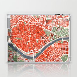 Seville city map classic Laptop & iPad Skin