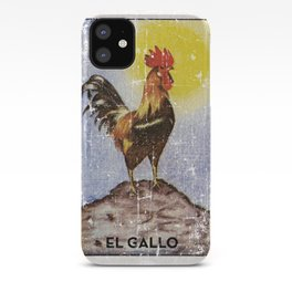 El Gallo Meican Loteria Bingo Card iPhone Case