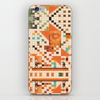 poem iPhone & iPod Skins featuring Orange poem by Mariano Peccinetti