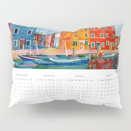2016 watercolor calendar Pillow Sham