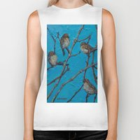 converse Biker Tanks featuring Sparrows Converse by Suzy Kitman Fine Art