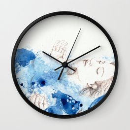 My Ophelia - Meditation on Water Wall Clock
