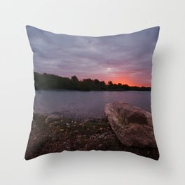 Sunrise Glow At Chasewater Throw Pillow