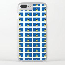 Sainte lucieFlag of Saint Lucia-Saint Lucia,Sainte Lucie,Saint Lucian,Lucien,Castries. Clear iPhone Case