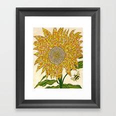 Georgia Sunflower Framed Art Print