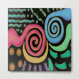 Colorful Abstract Digital Painting Metal Print