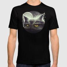 Owl & The Moon Black MEDIUM Mens Fitted Tee