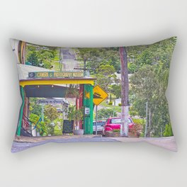 Beautiful street in the country Rectangular Pillow