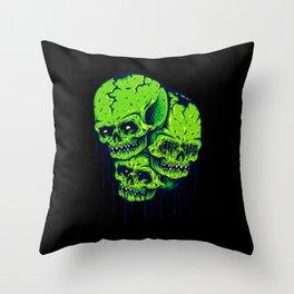 Skull Horror Nature Gift Throw Pillow