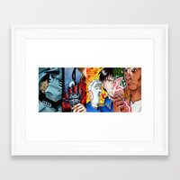 fullmetal Framed Art Prints featuring fullmetal squad by The Doom Cave