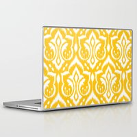 ikat Laptop & iPad Skins featuring Ikat Damask by Patty Sloniger