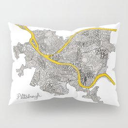 Pittsburgh Neighborhoods | 3 Gold Rivers Pillow Sham