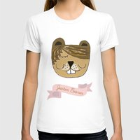beaver T-shirts featuring Justin Beaver by Katie Gaughan
