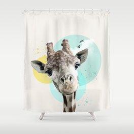 Dreamy giraffe Shower Curtain