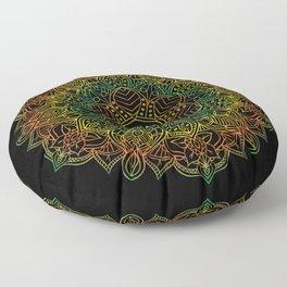 Mandala Ohm Yay Green Floor Pillow