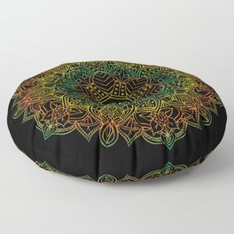 Mandala Ohm Yay Green Floor Pillow