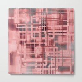 Negative Film Red Pink Pattern Abstract Metal Print