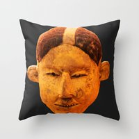 mask Throw Pillows featuring MAsk by Sébastien BOUVIER