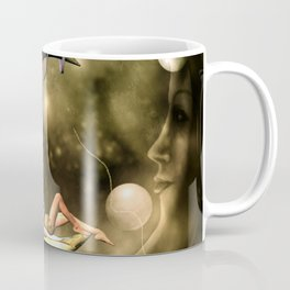 Steampunk lady  in the night Coffee Mug