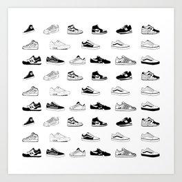 Sneakers White Kunstdrucke