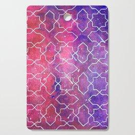 The Infinity Night Sky with Islamic Tesselation Cutting Board
