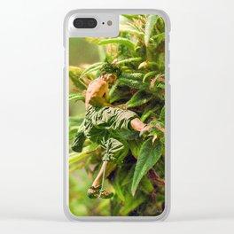 Cannabis Trip Clear iPhone Case