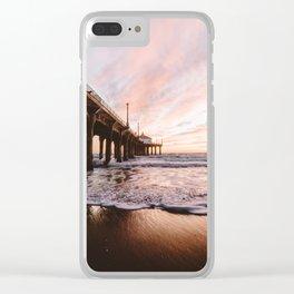 MANHATTAN BEACH PIER Clear iPhone Case