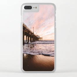 MANHATTAN BEACH PIER Clear iPhone Case