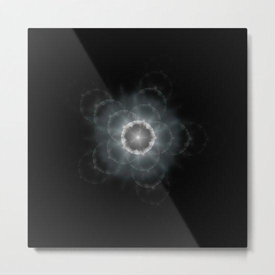 Space Flower Fractal Metal Print