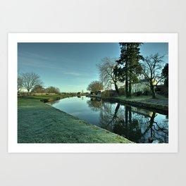 Moorings Reflections Art Print