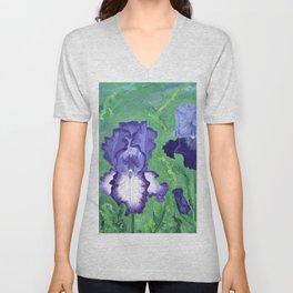 Spring Iris Garden Unisex V-Neck