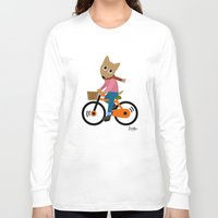 cycling Long Sleeve T-shirts featuring Sam's Cycling by BATKEI