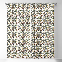 Vintage Butterflies | Butterfly Pattern | Multi-colored | Blackout Curtain