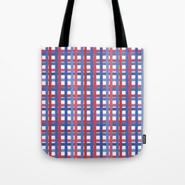 4th of July Gingham Tote Bag
