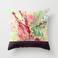 champagne Throw Pillows featuring Champagne by Vinn Wong - Original Abstract Art