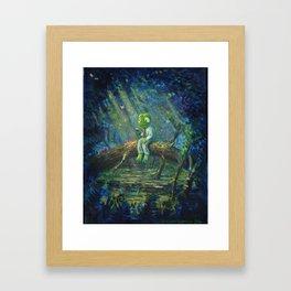 Full-Time Frog's Day Off Framed Art Print