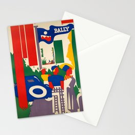 Advertisement bally modell  bally vintage Stationery Cards