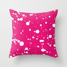 Painted Texture #310001 Hot Pink Throw Pillow