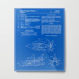 Space Shuttle Patent - Blueprint Metal Print