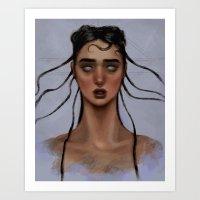 fka twigs Art Prints featuring FKA Twigs by Alexander Scott