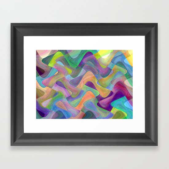 abstract wave Framed Art Print by Spetenfia   Society6 - photo #33
