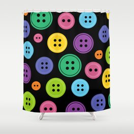 Colorful Rainbow Buttons Shower Curtain