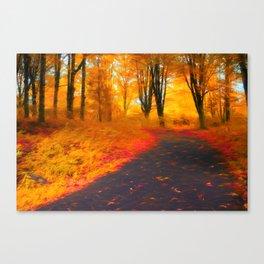 Emmaus Community Park Path - Colors of Fall Canvas Print