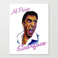 scarface Canvas Prints featuring Scarface by AdrockHoward
