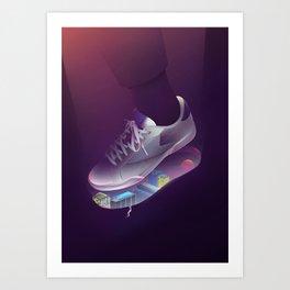 City Sneaker Art Print