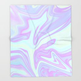 Unicorn Goo Liquid Holographic Texture Throw Blanket